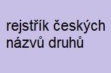 rejstřík českých názvů druhů